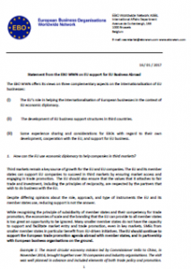 Statement from the EBO WWN on EU support for EU Business Abroad